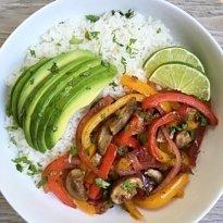 veggie fajita bowl