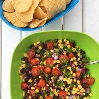 black bean veggie dip