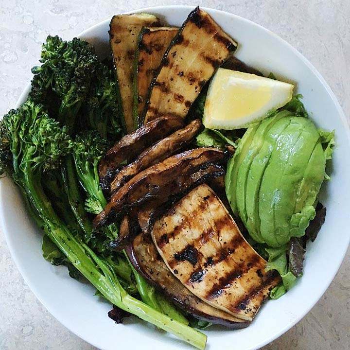 marinated grilled veggies