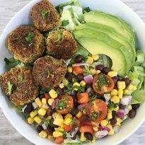 mexican vegan falafel bites