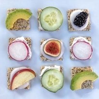 crackers with toppings