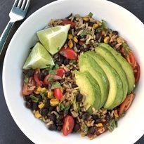 skillet rice and beans