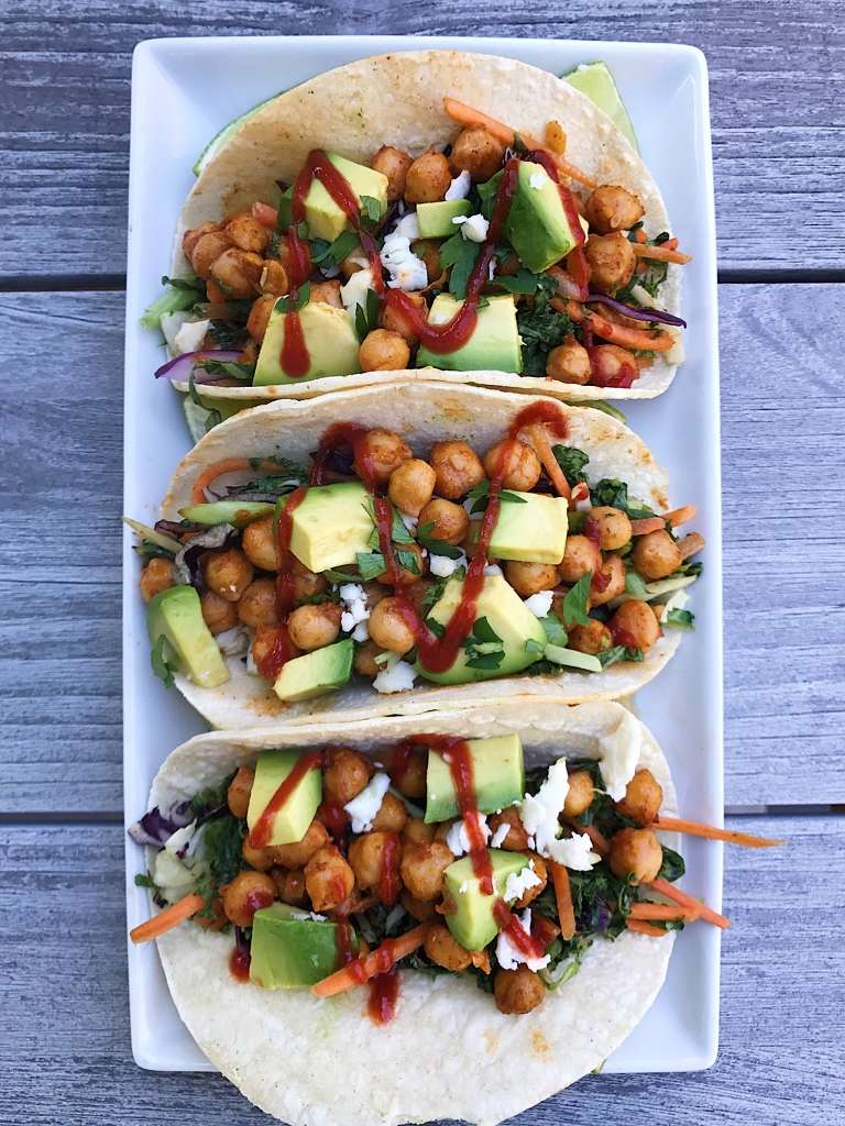 chickpea tacos enchilada sauce #gllutenfree #glutenfreerecipes www.healthygffamily.com