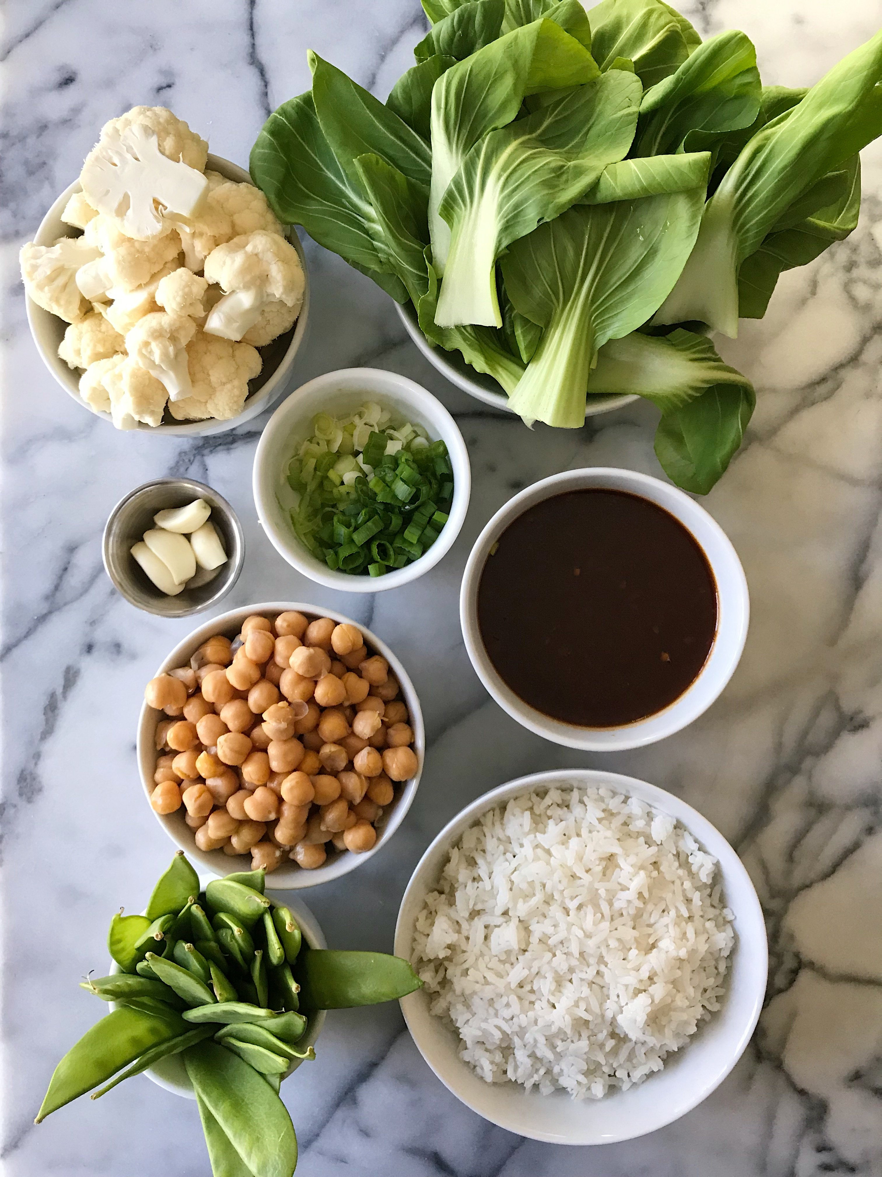 gluten-free general tso's chickpeas and veggies #glutenfree #glutenfreerecipes www.healthygffamily.com